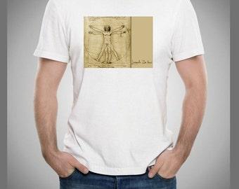 Leonardo Da Vinci Vitruvian Man T Shirt