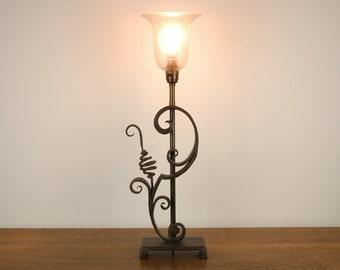 Swirly Elegant Iron Table Lamp