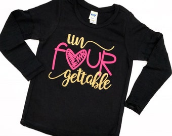 UnFOURgettable, Four Years Old, Fourth Birthday, 4th Birthday, Fourth Birthday Shirt, 4th Birthday Shirt, 4 Years Old, Fourth Bday, 4th Bday