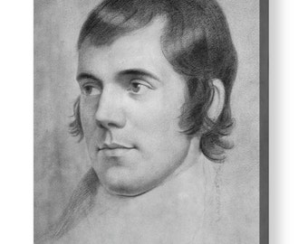 Robert Burns the Poet sketch by Archibald_Skirving Reproduction Canvas  Box Art A4, A3, A2, A1