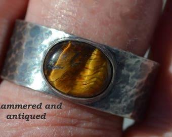 Tiger's Eye (Oval) Sterling Silver Men's Ring