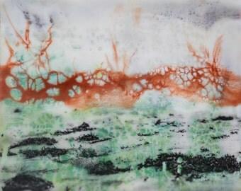Land Before Time (2) Original Encaustic Painting