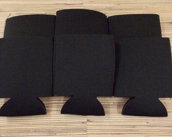 Black, Blank can coolies, free shipping