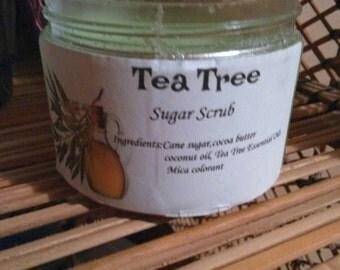 Tea tree sugar scrub