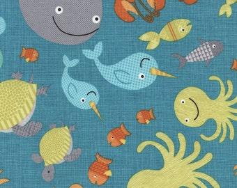 Timeless Treasures - Sea Creature - All over Pattern - Splish Splash
