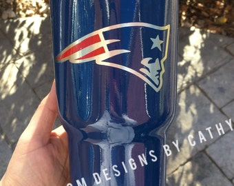 New England Patriots Powder coated Stainless steel tumbler YETI RTIC OZARK