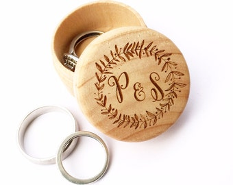 Personalised Wedding Ring Box, Rustic Wedding Box, Wooden Ring Box,  Wedding Gift, Personalised Couples Gift, Ring Bearer, Ring Holder, 03WG