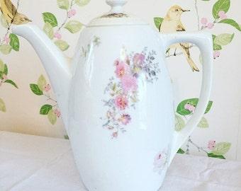 Vintage Coffee Pot, Vintage Floral Coffee Pot, Vintage Wedding, Vintage Tea Party, Kitchenalia.
