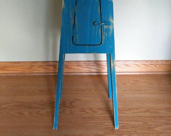 Blue Plant Stand Table