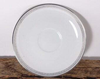 Vintage Noritake Silver Key Pattern Saucer, 5941