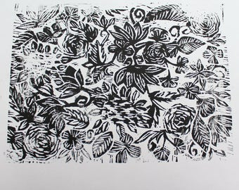 Botanical Woodcut Print