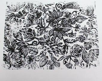 Botanical Woodcut Print