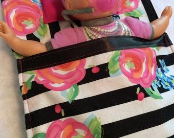 Doll bed//doll sleeping bag//american girl bed//stuffed animal bed