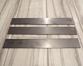 "USA steel lot of 3- 1/8""x1.5""x12"" 1095 high carbon steel flat bar knife billet"