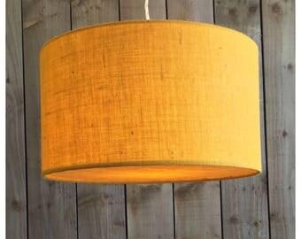 Yellow  Hessian Light Shade & Hessian Diffuser 25cm 30cm 35cm 40cm 45cm 50cm 60cm 70cm FREE UK SHIPPING