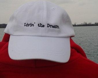 Livin' the Dream Ball Cap (white)