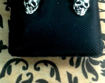 sterling skull earrings