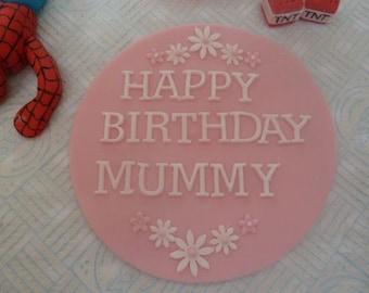 Edible Name Plaque, boy,girl,cake topper,birthday,christening, wedding,retirement.cake decoration