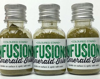 Infusions Emerald Isle Colored Stain Powder - Paper Artsy Infusion Powder - Green Infusions Powder - Colored Stain - Infusions Dye Stain