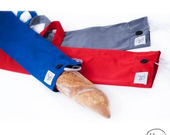 Bread bag (PUL) waterproof reusable wand for conservation and transport of bread - zero waste - zero waste