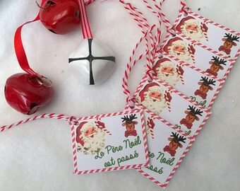 6 Christmas labels