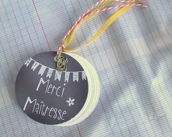 Pocket notebook round gift mistress + charm bag gift, slate way