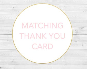 Matching Thank You Card, Digital File