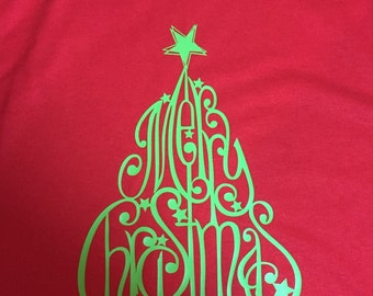 Merry Christmas Tree Tshirt