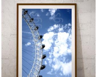 Cloud Photography, Cloud Print, Cloud Art, Cloud Wall Art, Cloud Decor, London Eye Artwork, London Eye Decor, London Eye Home Decor