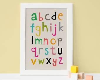 Alphabet Print, playroom decor