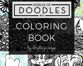 Oodles Of Doodles Etc Adult Coloring Book