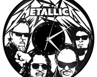 Music Lover Gift - Metallica Clock, Wall Clock, Vinyl Record Clock, Heavy Metal Gift, Vinyl Wall Clock, Vinyl Wall Decor, Gift for Him