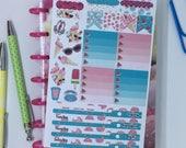 Flamingo summer Mini happy planner weekly kit, weekly planner kit, weekly planner stickers, planner stickers