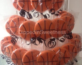 Basketball chocolate lollipops- 1 dozen
