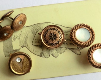 Antique Cufflinks to Wear and Jewelry Supply 2 Pairs, 2 Singles