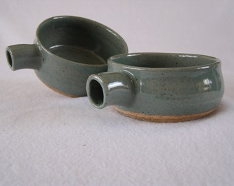 Bowls (set of 2) - Grey soup bowls