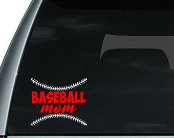 Baseball mom decal, baseball mom window sticker, baseball decal, baseball mom decal, vinyl decal, baseball mom gift, baseball gift
