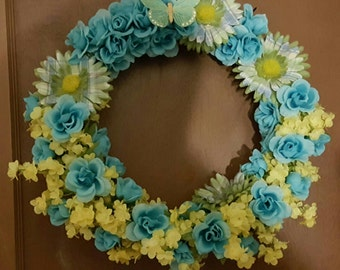 Hand Made Spring Time Floral Wreath