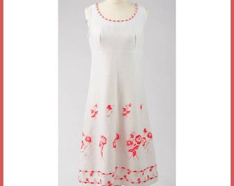 A Delicate Red Flower Dress