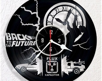 Vinyl wall clock Back to the Future