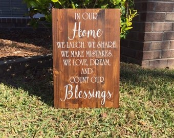 Home Wall Decor / Home Wood Sign / Home Wall Sign / Rustic Wood Sign