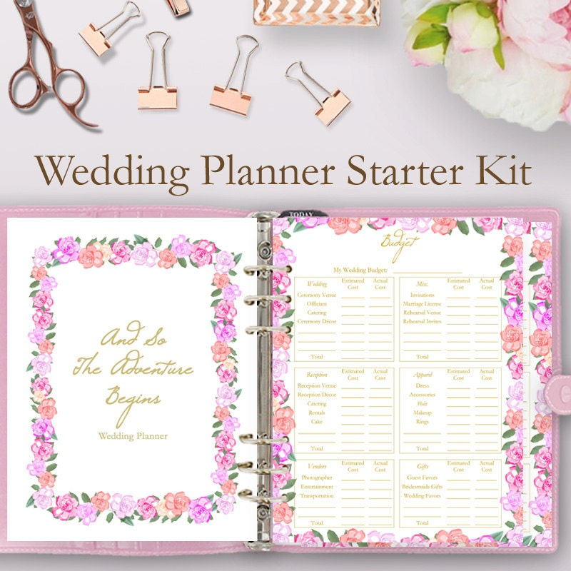 wedding planner book printable wedding planning by paperdelsol