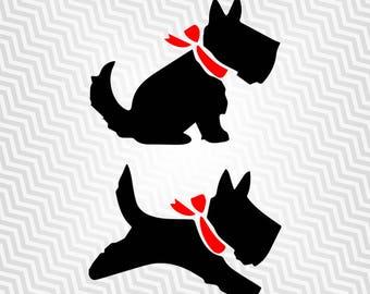 Scottish Terrier Svg, Dog, Cutout, Vector, Cricut, Silhouette Cameo, die cut, instant download, Digital Cut, Print Files, Ai, Pdf, Svg, Dxf
