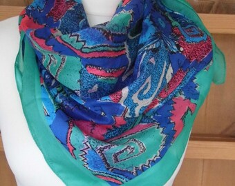 1980s Large Scarf