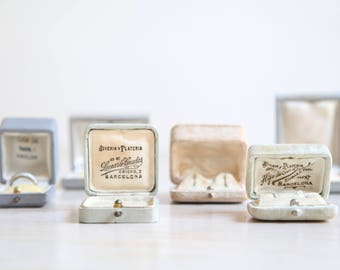 SOLD OUT Antique Ring Box, Vintage Ring Display, Set of Six Antique & Vintage Jewelry Boxes