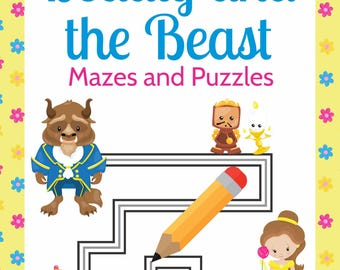 Beauty and the Beast Mazes and Puzzles - Printables, Birthday Party Favor