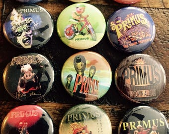 Primus Album/EP buttons! (Pick what you want or buy all!)