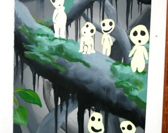 acrylic, oil and fosforescent painting on wood. Shine in the darkness. 183 x 64cm.