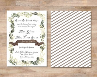 L+N Wedding Invitation