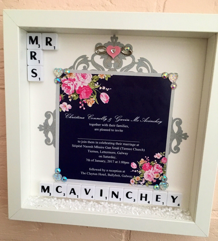 Wedding Memory Frame, Personalised Wedding Gift, Wedding ...